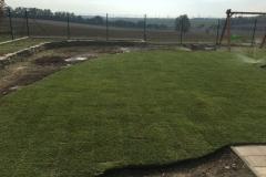 Pokládka kobercového trávnika - Brestovany